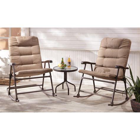 castlecreek padded outdoor rocking chair set  piece