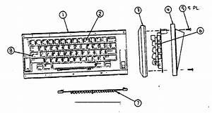 Macintosh Keyboard Assembly Diagram  U0026 Parts List For Model