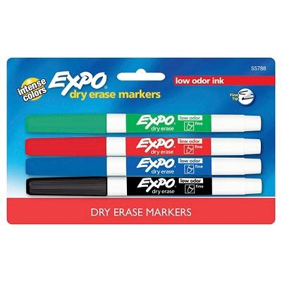 expo dry erase markers fine tip ct multicolor ink