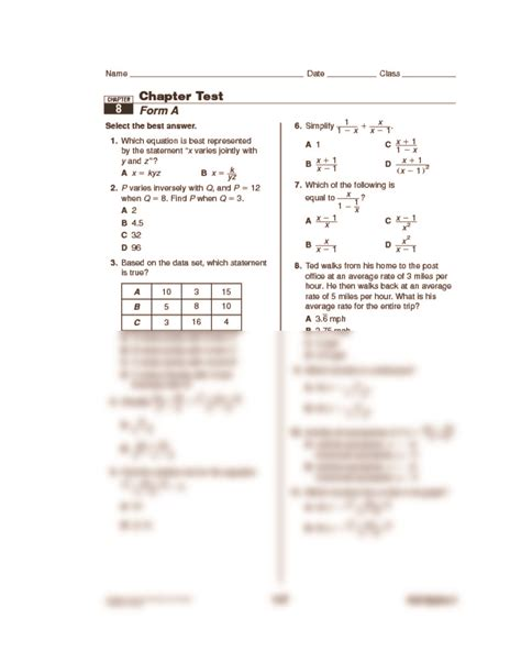 Chapter 12 Holt Algebra 2 Worksheet Answers The Best Worksheets Image Collection  Download And