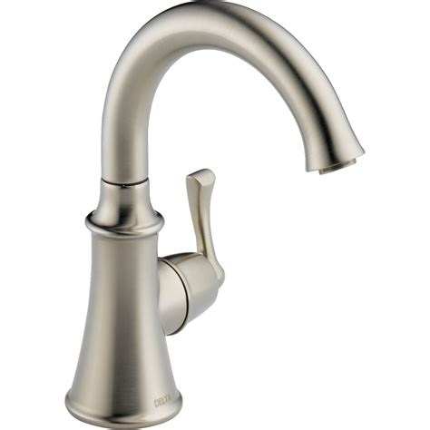 kitchen water faucets delta faucet 1914 ss dst traditional brilliance stainless