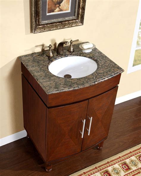 26 Inch Single Sink Vanity with a Unique Pattern and