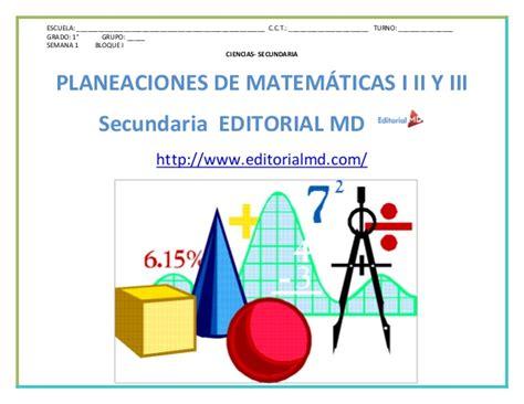 Planeacion De Matematicas Secundaria 1 2 Y 3 Grado