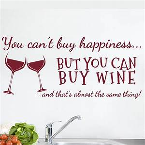 aliexpresscom buy you cant buy happiness wine wall art With awesome wine decals for walls ideas
