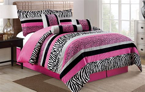 pink  black zebra bedding achieving  stylish childs