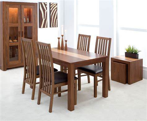 walnut dining table and chairs marceladick