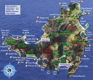 St. Maarten Beach Map