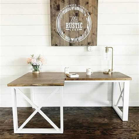 farmhouse l shaped desk ana white l shaped double x desk featuring handmade