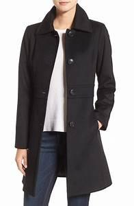 Kristen Blake Wool Blend Walking Coat (Regular & Petite