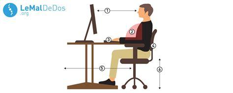 position bureau comment s 39 asseoir devant ordinateur lemaldedos org