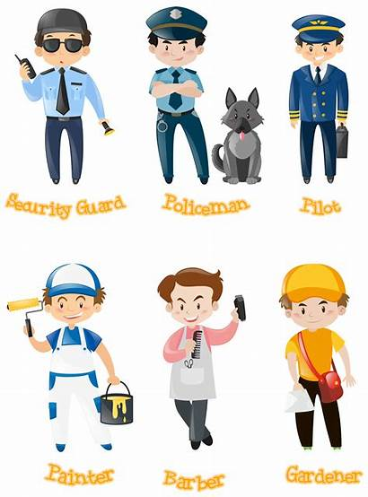 Jobs Different Vector Doing Kinds Profession Designs