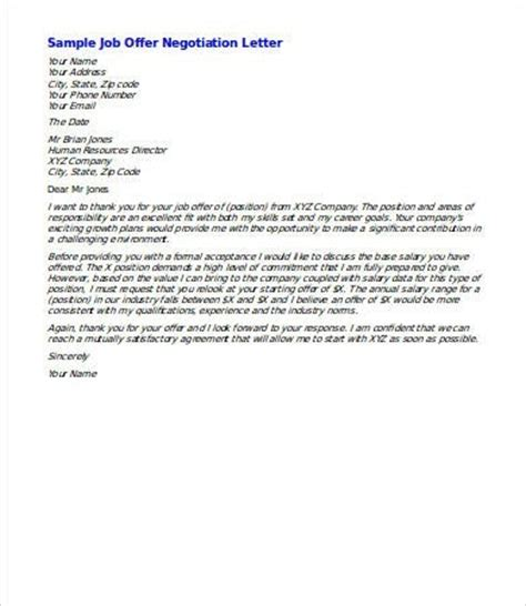 Salary Negotiation Email Template by Salary Negotiation Letter Sle The Letter Sle