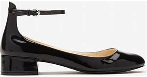 Forever 21 Faux Patent Leather Ankle Strap Flats in Black ...