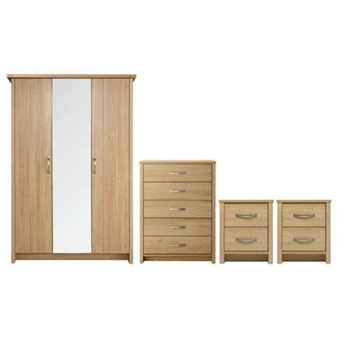 buy collection truro  pc bedroom furniture package oak