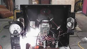 Crt Tv Filament Overvolted And Some Circuit Board Sparks