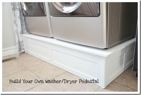 pedestal for washer and dryer build washer and dryer platform the idea room
