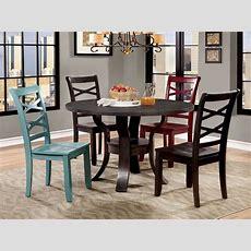 Giselle Espresso Round Dining Room Set, Cm3518rt