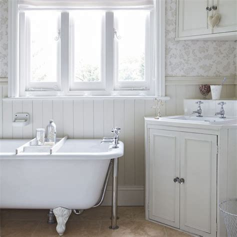 shabby chic bathroom wallpaper a shabby chic victorian bathroom shabby chic bathroom designs and inspiration housetohome co uk