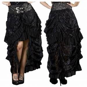 Viktorianischer Stil Kleidung : viktorianischer spitzenrock im vokuhila stil burleska burleska girlr cke lang gothic ~ Watch28wear.com Haus und Dekorationen