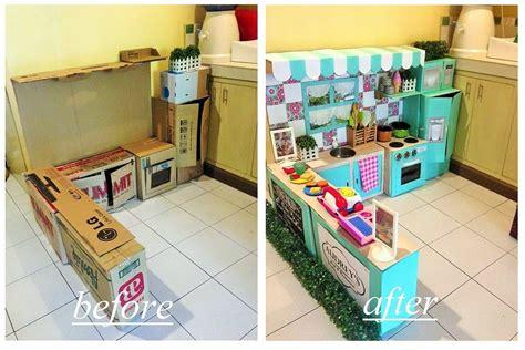 rational cuisine diy cardboard play kitchen for popsugar
