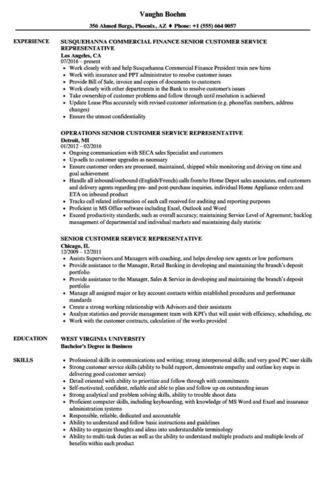 Customer Service Representative Resume Sles by Customer Service Representative Resume 9 Template Format