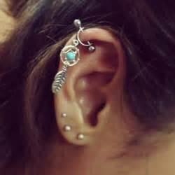 surgical steel hoop earrings helix cartilage bar earring ear piercing 16g catcher