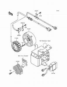 1987 Kawasaki 300 Engine Diagram