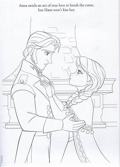 Frozen Coloring Anna Official Hans Illustrations Elsa