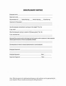 best photos of written warning discipline notice With employee disciplinary write up template