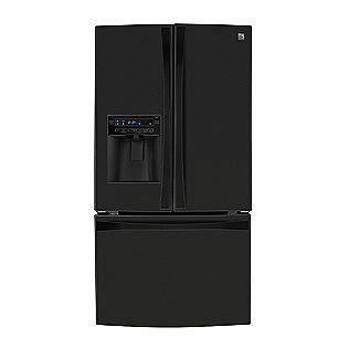 kenmore elite  black   counter depth french door fridges    cubic ft