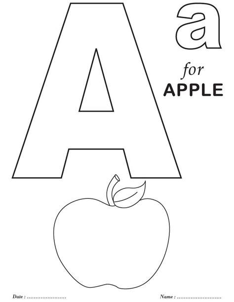 coloring letters printables alphabet a coloring sheets pre k alphabet