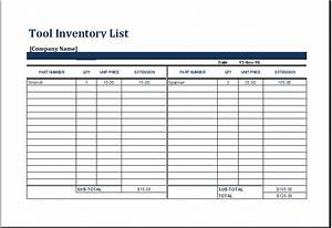 printable equipment and tools inventory list worksheet With document management tools list