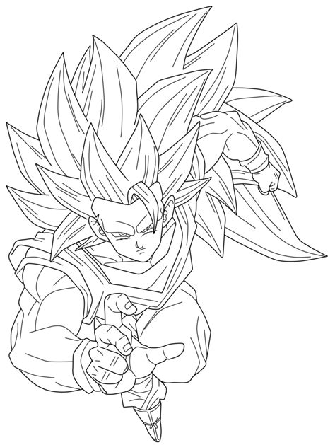 Goku Kleurplaat by Saiyan 4 Gogeta Coloring Pages