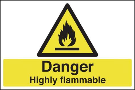 Danger Highly Flammable Signs   Seton UK