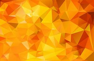 Orange Geometric Polygonal Triangle Texture - Free Vector