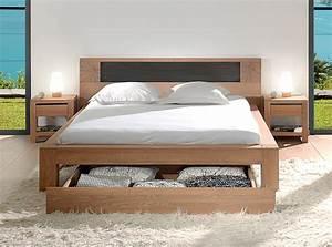 Lit Double Sommier Séparé : lit double woody scandiprojects ~ Melissatoandfro.com Idées de Décoration