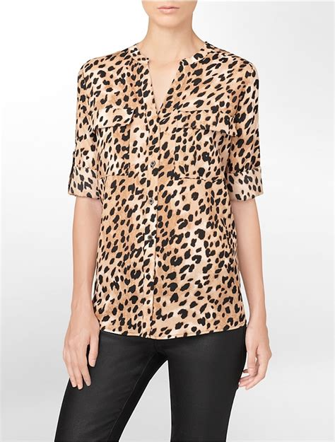 leopard print blouses white blouse with leopard print collar silk blouses