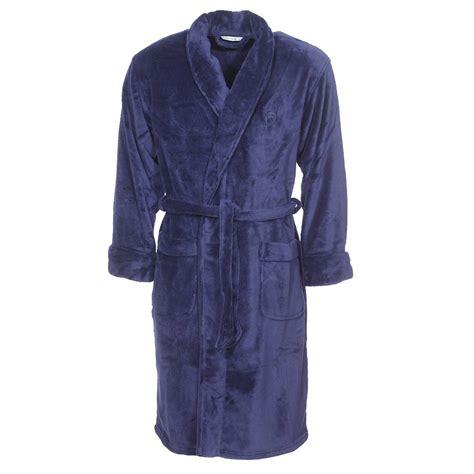 robe de chambre en polaire robe de chambre col ch 226 le mariner en polaire bleu marine