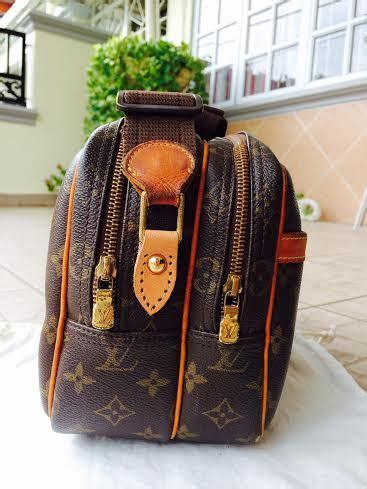 vintage authentic louis vuitton monogram reporter pm crossbody purse bag