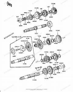 Kawasaki Motorcycle 1982 Oem Parts Diagram For