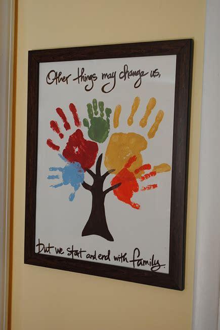 hand print tree family crafts crafts  kids crafts