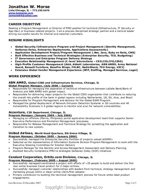 Manager Resume Objective executive manager resume objective exles resume
