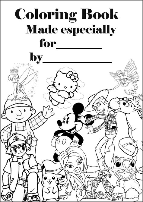 coloring book print  cover