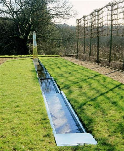 water rill design pond water features rill with garden obelisk from david harber courtyards pinterest