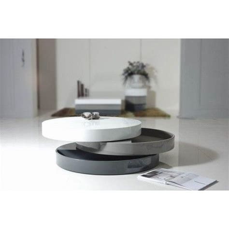 See the detailed pics here. Contemporary transforming round coffee table with storage Mooka