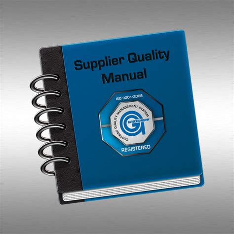 Supplier Quality Manual Groschopp