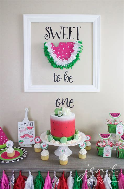 birthday party ideas 1st birthday party ideas a watermelon birthday party with cricut jen t by