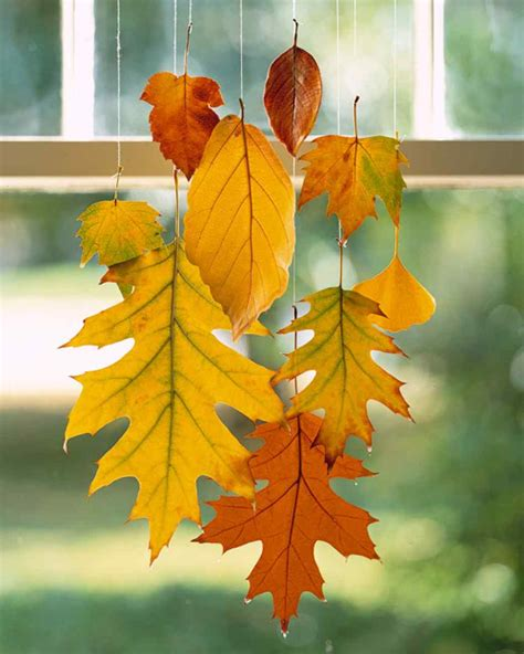 tabulous design  fall leaf decorating ideas