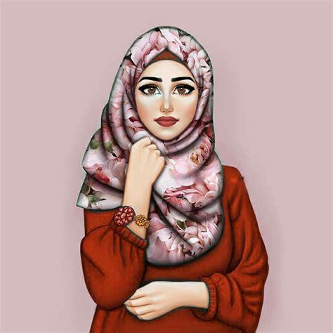 beauty  art girly art girly  hijab drawing