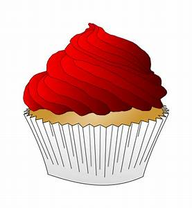 Clipart - Red Frosting Cupcake